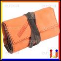 Il Morello Pocket Mini Portatabacco in Vera Pelle Colore Arancione e Mimetico 1