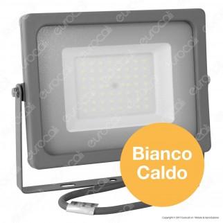 V-Tac VT-4955 Faretto LED SMD 50W Ultra Sottile da Esterno Colore Grigio - SKU 5834 / 5835 /  5836