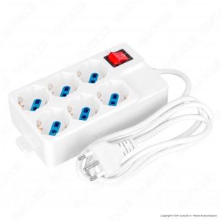 CFG Multipresa 6 Posti Colore Bianco con Interruttore