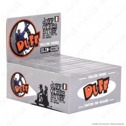 Cartine Duff Silver King Size Slim Lunghe Argento - Scatola da 50 Libretti