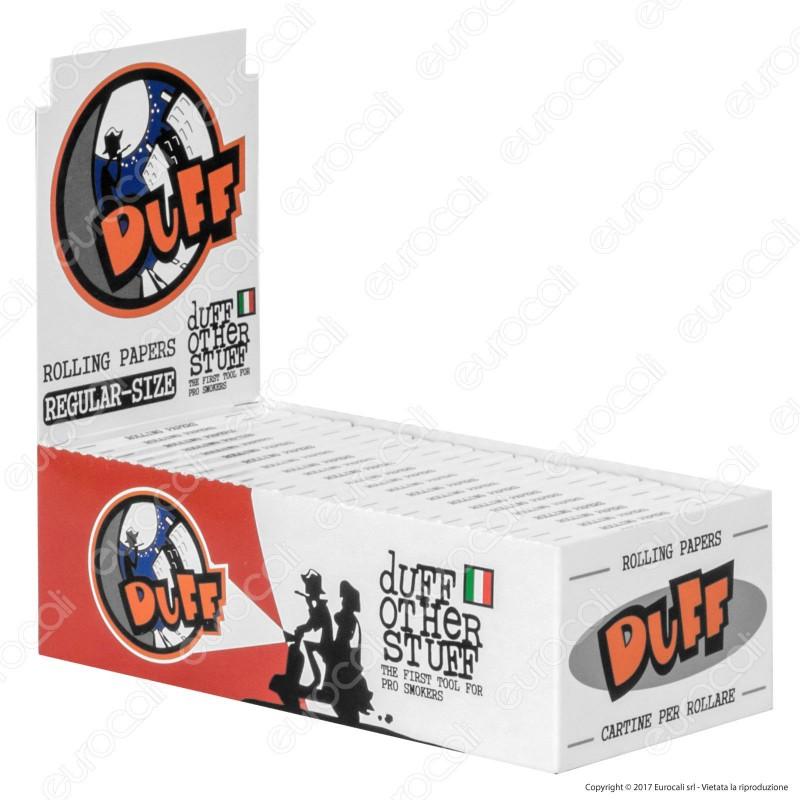 Cartine Duff White Corte Bianche - Scatola da 50 Libretti