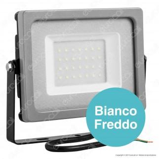 V-Tac VT-4933 Faretto LED SMD 30W Ultra Sottile da Esterno Colore Grigio e Nero - SKU 5810 / 5811 / 5812