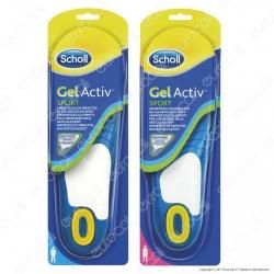 Scholl Solette Gel Activ Sport Uomo / Donna - Confezione con 1 paio di solette
