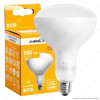 Marino Cristal Serie ECO Lampadina LED E27 7W Bulb Reflector R125 Filament Dimmerabile