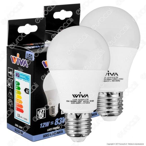 Wiva Kit LED Combo Pack - 2 Lampadine E27 da 12W e 15W