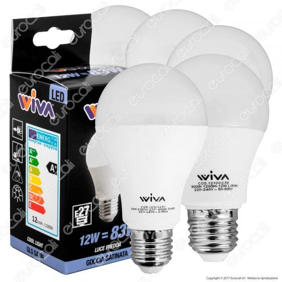 Wiva Kit LED Full Pack - 5 Lampadine E27 da 12W 15W e 20W