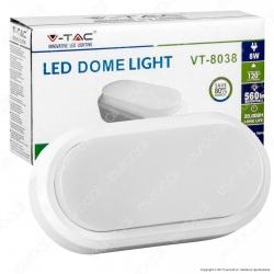 V-Tac VT-8038 Lampada da Muro LED 8W Colore Bianco IP54 - SKU 1311 / 1312 / 1313