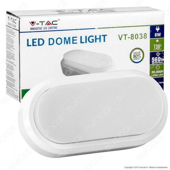 V-Tac VT-8038 Lampada da Muro LED 8W Colore Nero IP54 - SKU 1311 / 1312 / 1313