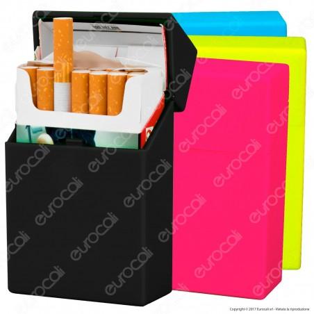 Atomic Portasigarette Portapacchetto in Plastica Rigida con Colorazioni Fluo