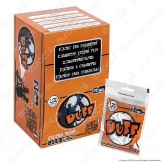Duff Filtri Slim 6mm Lisci - Box 34 Bustine da 120 Filtri