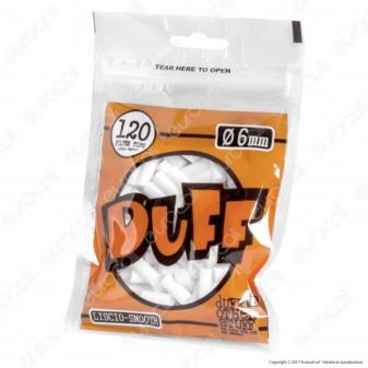 Duff Filtri Slim 6mm Lisci - Bustina da 120 Filtri