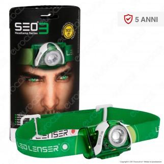 Ledlenser Seo 3 Torcia LED Headlight Multifunzione Colore Verde - Torcia Frontale