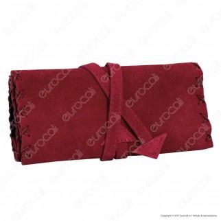 Atomic Tobacco Pouch WP Portatabacco in Vera Pelle Scamosciata - 4 Colorazioni