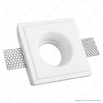 Portafaretto Quadrato da Incasso in Gesso per Lampadine GU10 e GU5.3 - ART54