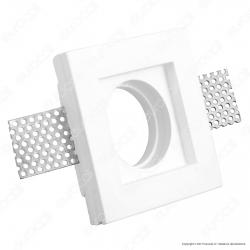 Portafaretto Quadrato da Incasso in Gesso per Lampadine GU10 e GU5.3 - ART42