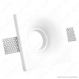 Portafaretto Quadrato da Incasso in Gesso per Lampadine GU10 e GU5.3 - ART46