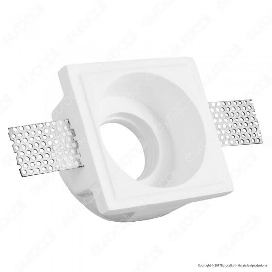 Portafaretto Quadrato da Incasso in Gesso per Lampadine GU10 e GU5.3 - ART53