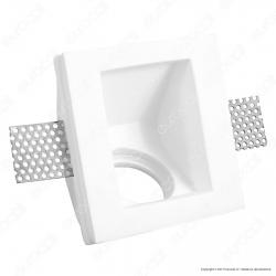 Portafaretto Quadrato da Incasso in Gesso per Lampadine GU10 e GU5.3 - ART47