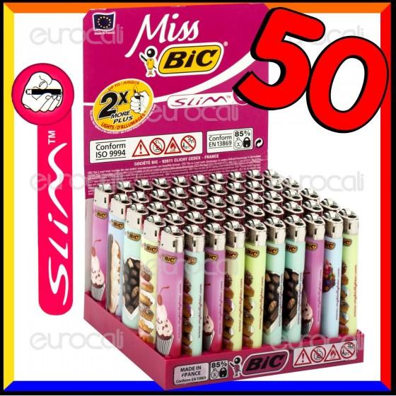 Miss Bic Medio Slim Fantasia Dolci - Box da 50 Accendini