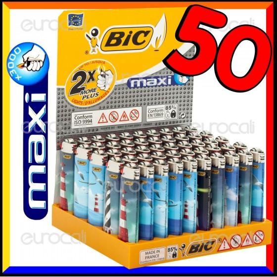 Bic Maxi Grande Fantasia Fari - Box da 50 Accendini