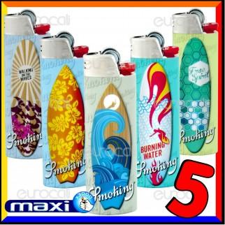 Bic Maxi J26 Grande Fantasia Smoking Surf - 5 Accendini
