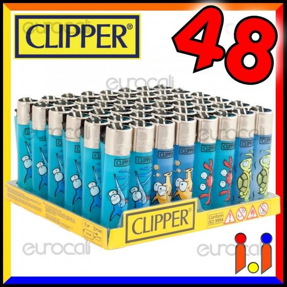 Clipper Large Fantasia Sea Animals 1 - Box da 48 Accendini C25