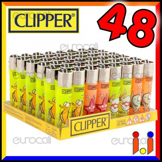 Clipper Large Fantasia Sea Animals 2 - Box da 48 Accendini C26