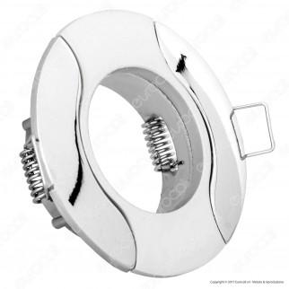 Kanlux AKRA CT-DS14PS/N Portafaretto Rotondo da Incasso per Lampadine GU10 e GU5.3 - mod.4785