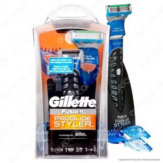 Gillette Fusion Proglide Styler Rasoio 3 in 1 Multifunzione con Batteria