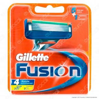 Gillette Fusion Ricarica di 4 Testine per Tutti i Rasoi Gillette Fusion