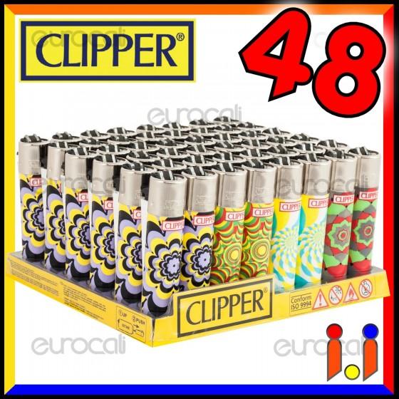 Clipper Large Fantasia Psycweed - Box da 48 Accendini