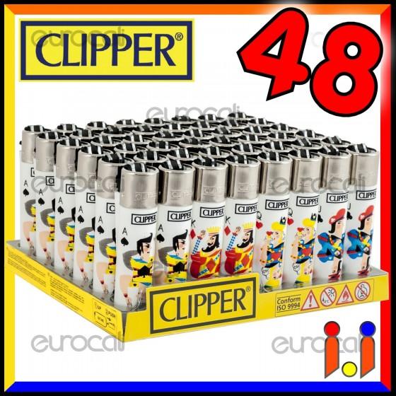 Clipper Large Fantasia Ace of Spades - Box da 48 Accendini C17