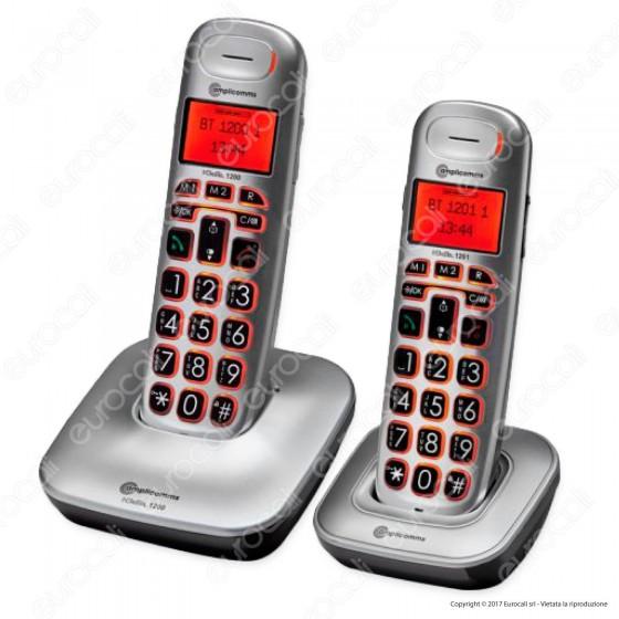 Amplicomms BigTel 1202 Set di 2 Telefoni Cordless per Portatori di Apparecchi Acustici