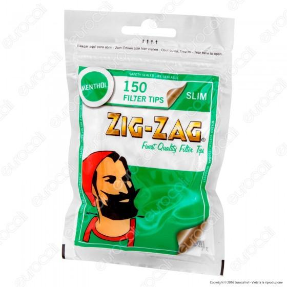 Zig Zag Slim 6mm Al Mentolo - Bustina da 150 Filtri