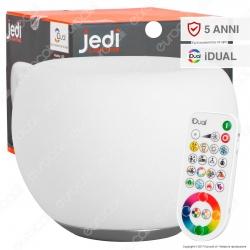 Jedi Lighting Lampada da Tavolo Clover iDual RGB+W 8,5W Multifunzione con Telecomando - 10 Prodotti in 1 - mod. JE621009