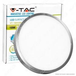V-Tac VT-1805 RD Pannello LED Rotondo 18W SMD Satinato con Driver - SKU 6373 / 6374 / 6375