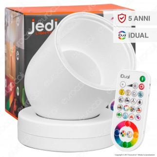 Jedi Lighting Lampada da TavoloTulip iDual RGB+W 16W Multifunzione con Telecomando - 10 Prodotti in 1