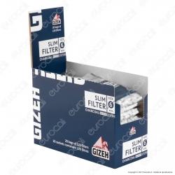 Gizeh Slim 6mm Carboni Attivi - Box 20 Bustine da 120 Filtri