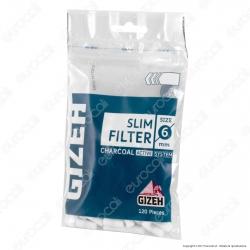 Gizeh Slim 6mm Carboni Attivi - Bustina da 120 Filtri