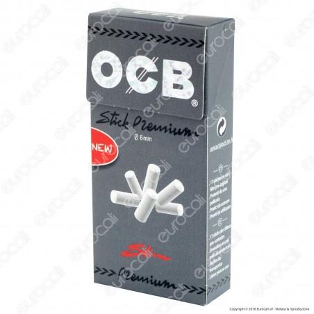 Ocb Stick Premium Slim 6mm Pop-up In Cannuccia - Scatolina da 102 Filtri