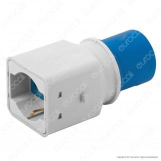 Wiva Adattatore Spina CEE Industriale Presa Bivalente Schuko Colore Bianco e Blu - mod. 31500913