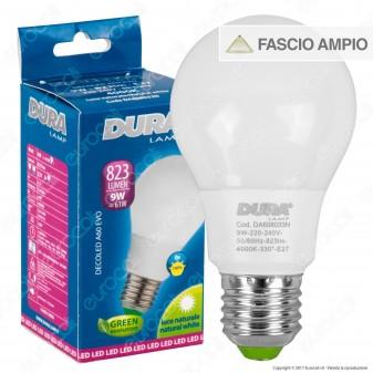Duralamp Decoled Evo Lampadina LED E27 9W Bulb A60