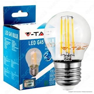 V-Tac VT-1980 Lampadina LED E27 4W MiniGlobo G45 Filamento - SKU 4306 / 4427 / 4428