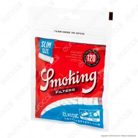 Smoking Slim 6mm - Bustina da 120 Filtri