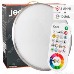 Jedi Lighting Plafoniera LED Calypso iDual RGB+W 23,5W Multifunzione con Telecomando - 10 Prodotti in 1 - mod. JE504089