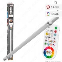 Jedi Lighting Tubo LED Neo iDual RGB+W 8,8W Multifunzione con Telecomando - 10 Prodotti in 1 - mod. JE790009