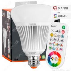 Jedi Lighting Lampadina LED E27 iDual RGB+W 16W Multifunzione con Telecomando - 10 Prodotti in 1 - mod. JE0189081