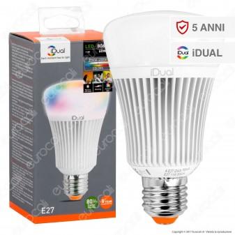Jedi Lighting Lampadina LED E27 iDual RGB+W 16W Multifunzione con Telecomando - 10 Prodotti in 1