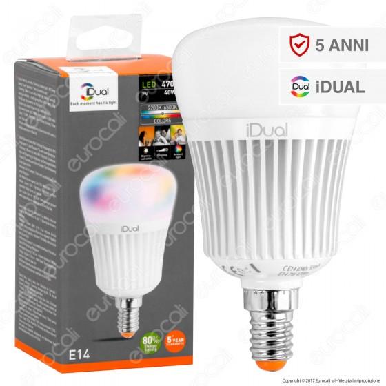 Jedi Lighting Lampadina LED E14 iDual RGB+W 7W Multifunzione - 10 Prodotti in 1