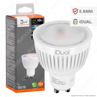 Jedi Lighting Lampadina LED GU10 iDual RGB+W 6,5W Faretto Multifunzione - 10 Prodotti in 1